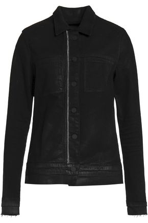 RTA Rene zip-embellished denim jacket