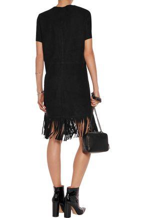 RTA Fringed suede dress