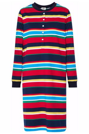 SLEEPY JONES Striped cotton-jersey nightdress