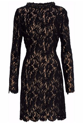 LANVIN Embellished guipure lace dress