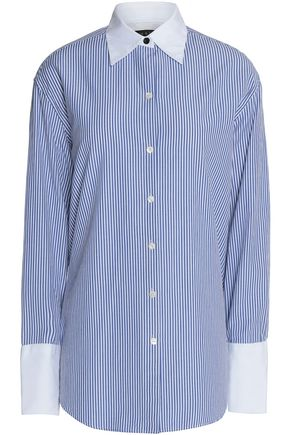 RAG & BONE Striped cotton and silk-blend poplin shirt