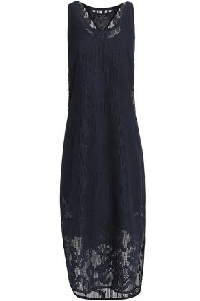 RAG & BONE Crocheted cotton-blend lace midi dress