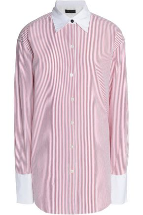 RAG & BONE Essex oversized pinstriped cotton and silk-blend shirt