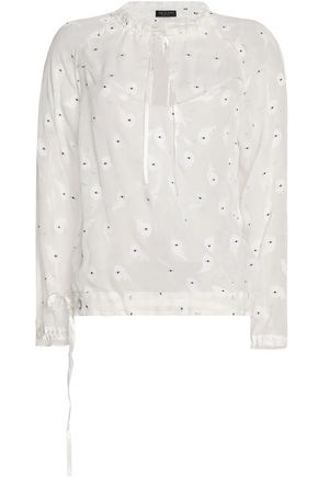 RAG & BONE Embroidered chiffon top