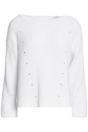WOMAN COTTON SWEATER WHITE