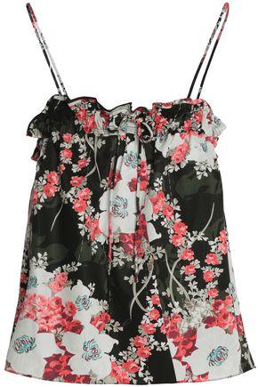 RAG & BONE Floral-print twill top