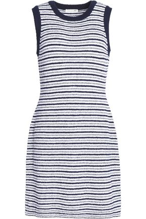 RAG & BONE/JEAN Striped cotton-blend knitted mini dress