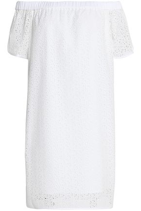 RAG & BONE Off-the-shoulder broderie anglaise cotton dress