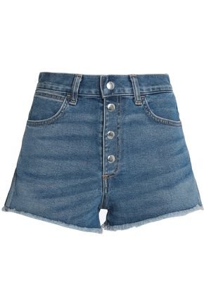 RAG & BONE/JEAN Distressed cotton-blend denim shorts
