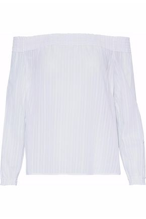 RAG & BONE/JEAN Off-the-shoulder textured cotton top