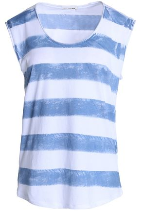 RAG & BONE/JEAN Striped cotton-jersey top