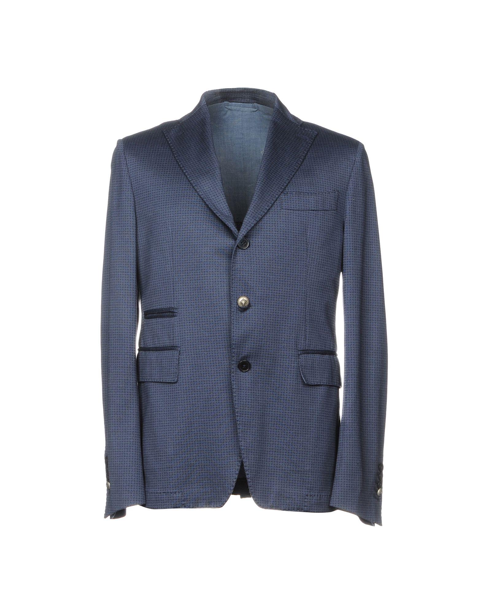 《送料無料》JOHN SHEEP メンズ テーラードジャケット ブルー 52 100% コットン