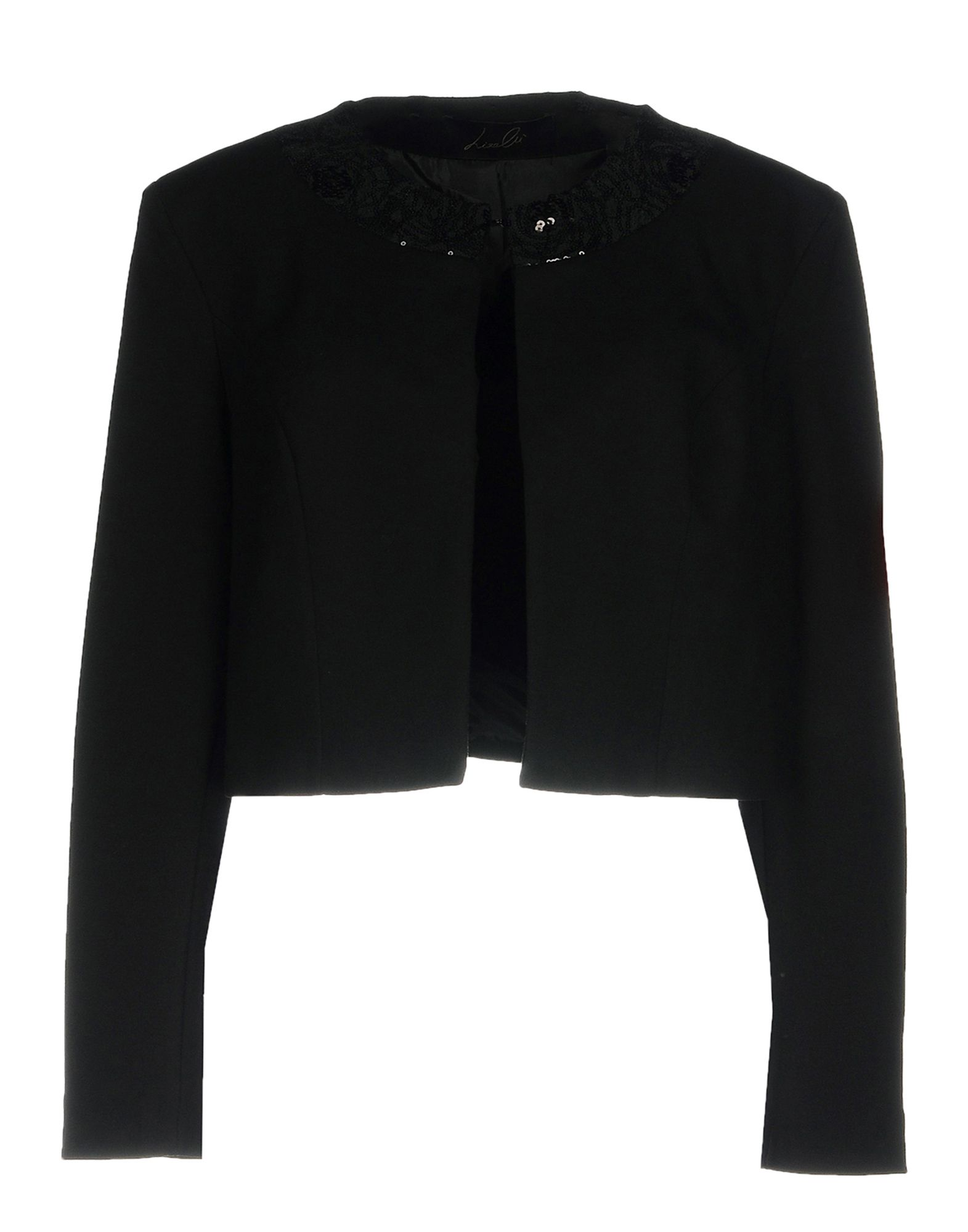 《期間限定セール中》LIZALU' レディース テーラードジャケット ブラック 46 レーヨン 68% / ナイロン 27% / ポリウレタン 5%