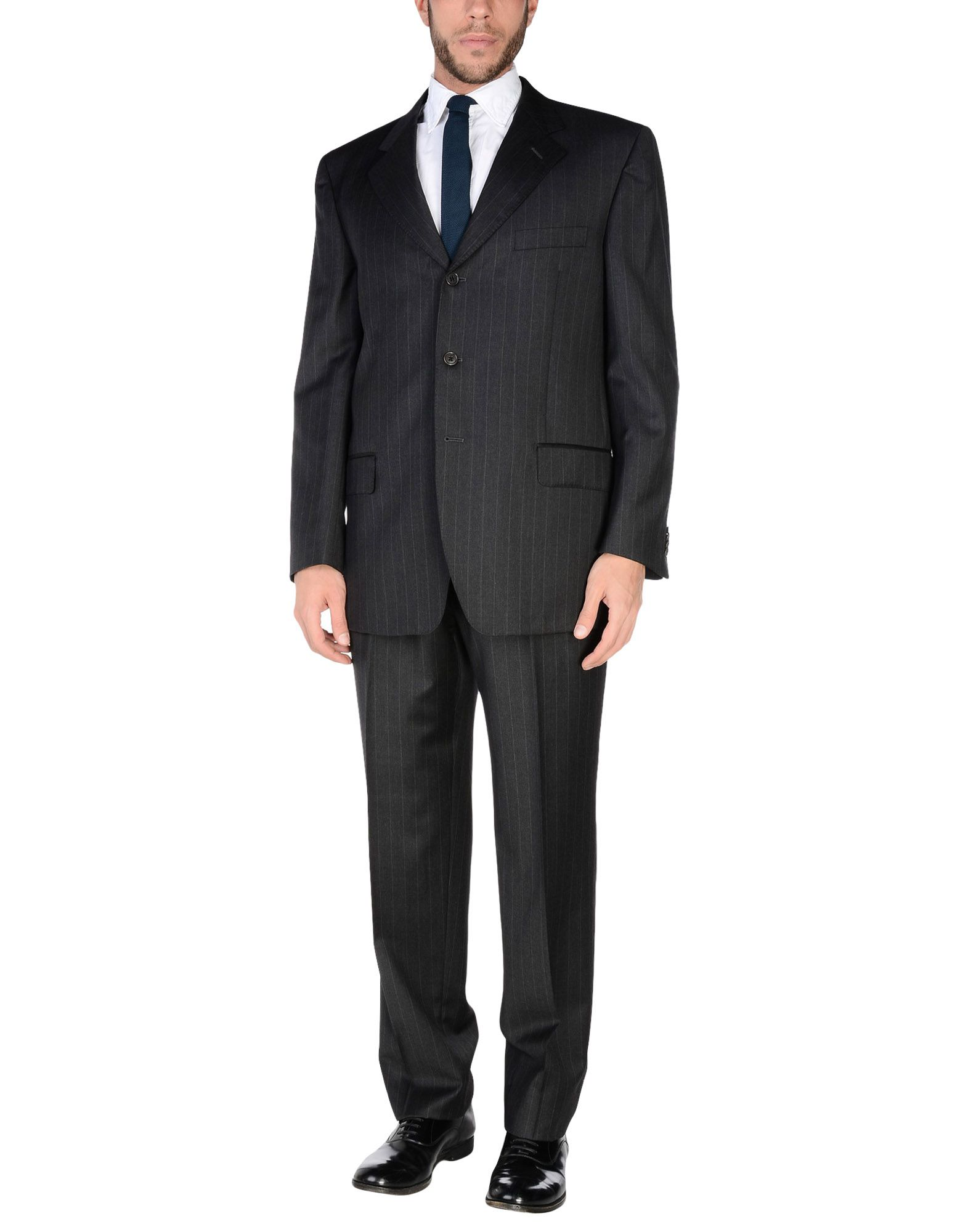 《送料無料》GUERRIERI メンズ スーツ スチールグレー 54 スーパー120 ウール 100%