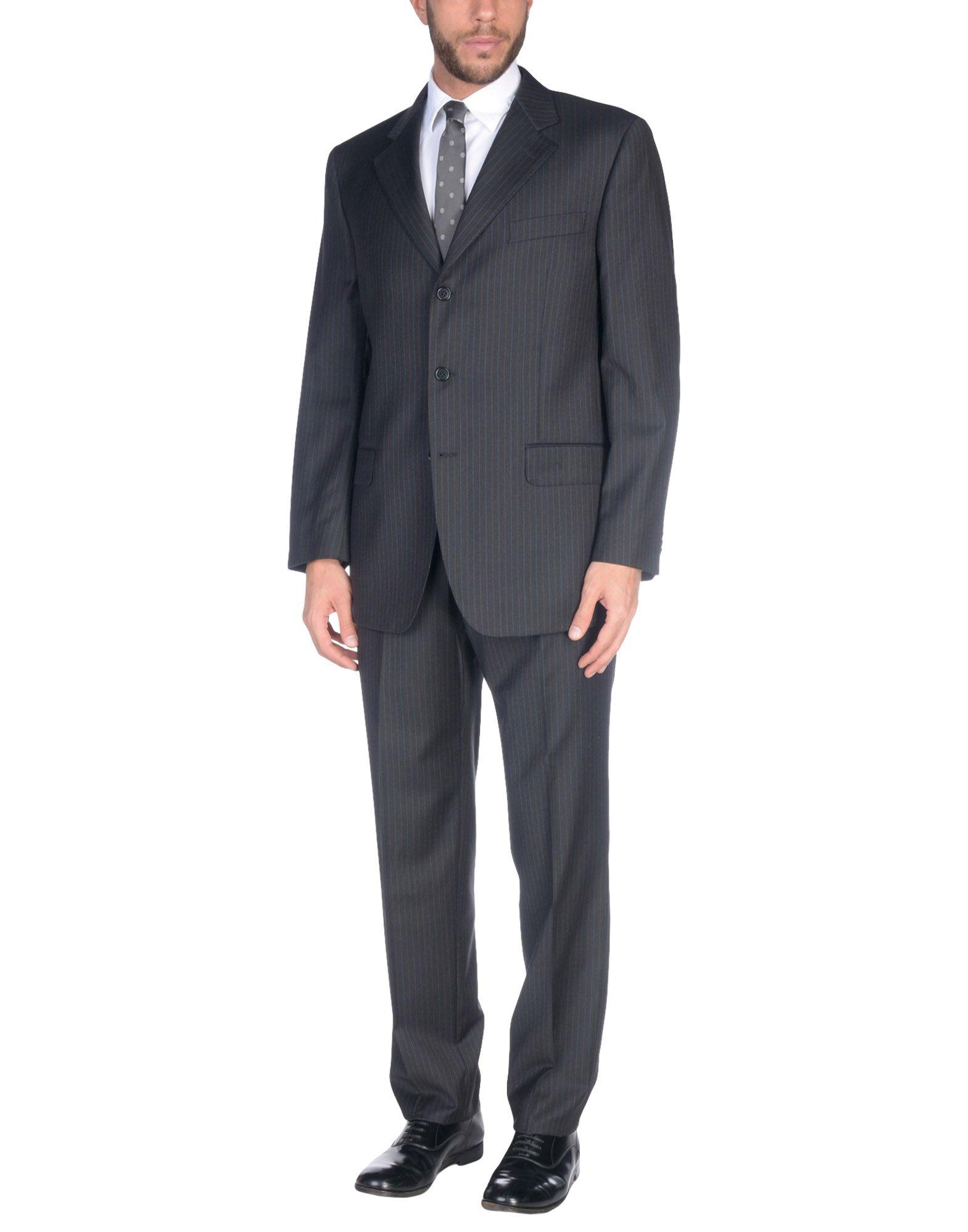 《送料無料》GUERRIERI メンズ スーツ ブラック 54 スーパー110 ウール 100%