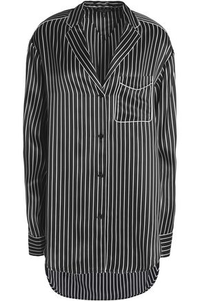 RAG & BONE Striped silk-satin top