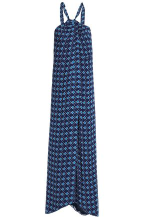 DIANE VON FURSTENBERG Printed silk-voile maxi dress