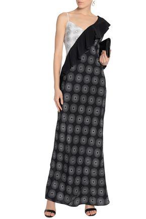 DIANE VON FURSTENBERG Ruffled printed silk crepe de chine gown