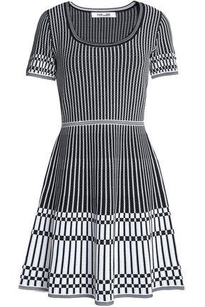 DIANE VON FURSTENBERG Jacquard stretch-knit mini dress