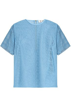 DIANE VON FURSTENBERG Paneled lace top