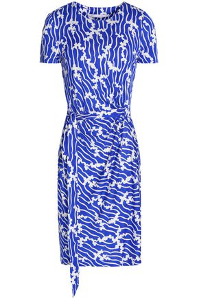 DIANE VON FURSTENBERG Zoe gathered printed silk-jersey mini dress