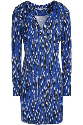 DIANE VON FURSTENBERG Printed silk-jersey mini dress
