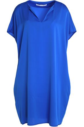 DIANE VON FURSTENBERG Draped crepe de chine mini dress