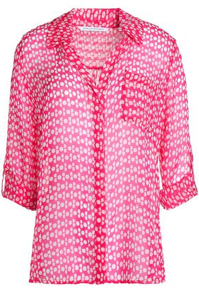 DIANE VON FURSTENBERG Lorelei printed silk-chiffon shirt