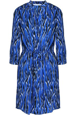 DIANE VON FURSTENBERG Freya gathered floral-print jersey mini dress