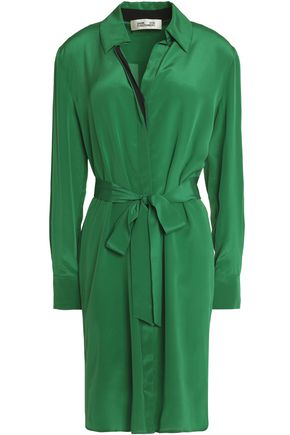 DIANE VON FURSTENBERG Belted silk crepe de chine dress