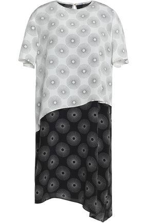DIANE VON FURSTENBERG Paneled printed silk mini dress