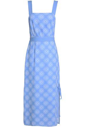 DIANE VON FURSTENBERG Cutout crepe-jacquard midi dress