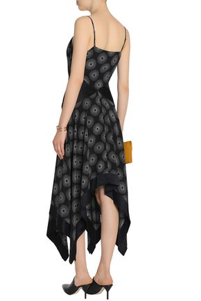 59ef5631b61 ... DIANE VON FURSTENBERG Silk satin-paneled printed crepe midi dress