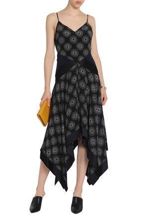 adc2b0ca8ad ... DIANE VON FURSTENBERG Silk satin-paneled printed crepe midi dress ...