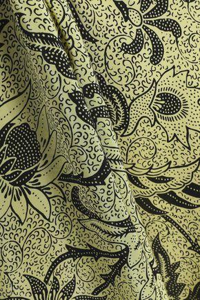 DIANE VON FURSTENBERG Printed silk midi wrap dress