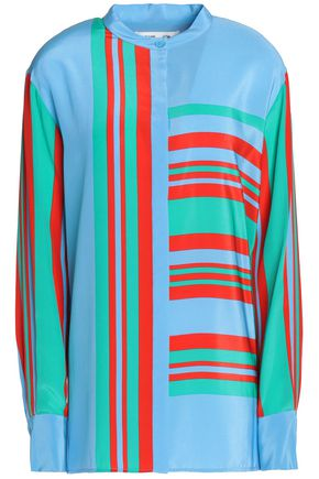 DIANE VON FURSTENBERG Striped silk-faille shirt