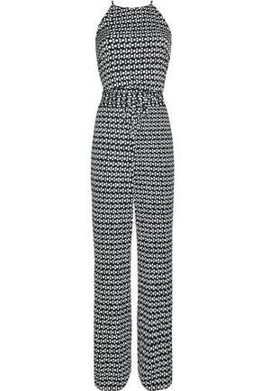 DIANE VON FURSTENBERG Printed silk-blend jumpsuit