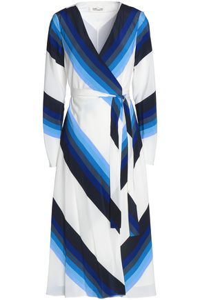 DIANE VON FURSTENBERG Printed silk-crepe wrap dress
