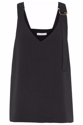 TIBI Buckled draped cady top