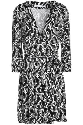 DIANE VON FURSTENBERG Printed silk-jersey wrap mini dress