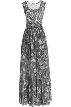 DIANE VON FURSTENBERG Printed silk-georgette maxi dress