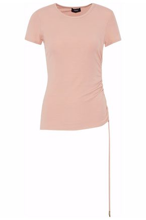 THEORY Ruched stretch-jersey top