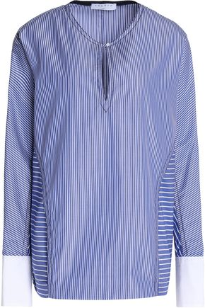 SANDRO Striped cotton-poplin shirt