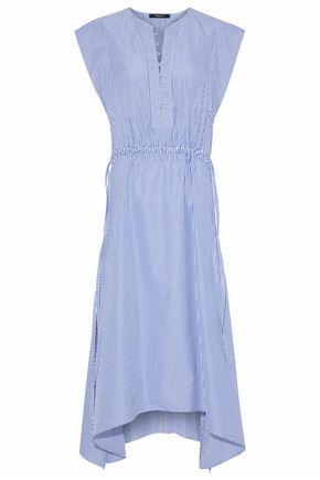 DEREK LAM Striped cotton poplin dress