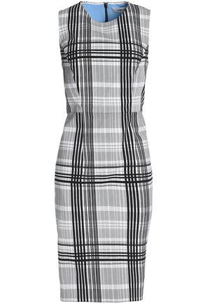 DIANE VON FURSTENBERG Checked stretch-cotton dress