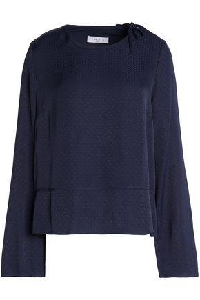 SANDRO Moe cutout twill top