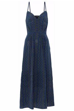 DEREK LAM Tiered printed silk midi dress