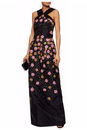 ZAC POSEN Embellished silk-organza gown