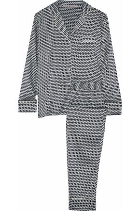 STELLA McCARTNEY Printed stretch-silk pajama set