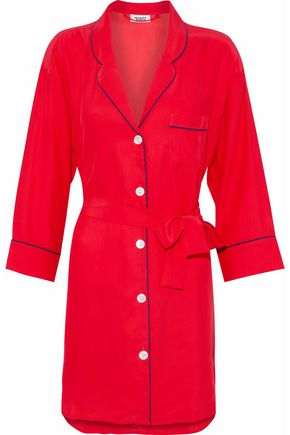 SLEEPY JONES Two-tone silk robe